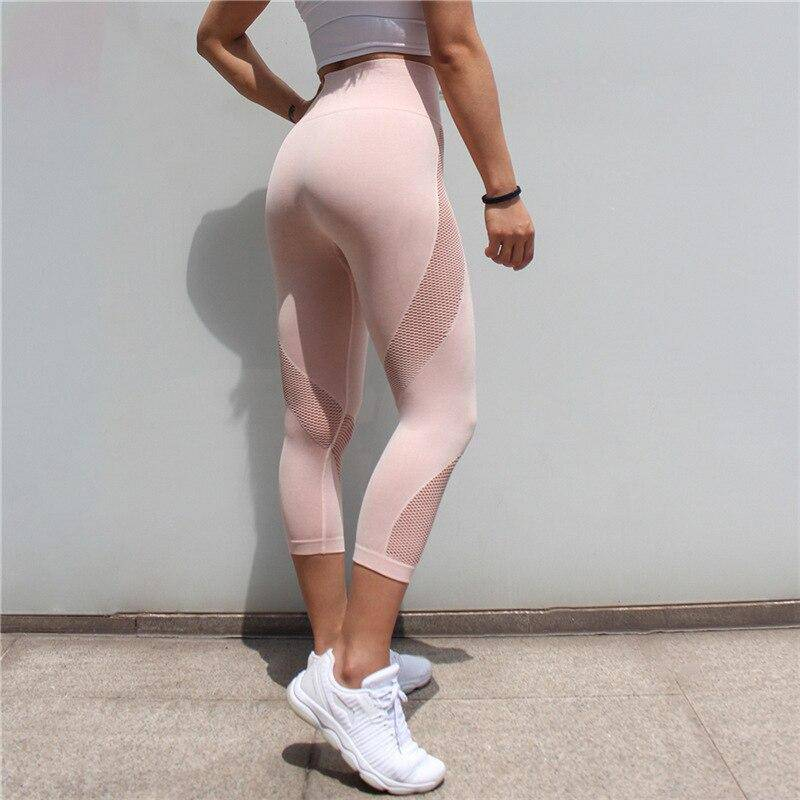 "High Waist Yoga & Fitness Leggings ""Lymon"" - GYMAHOLICS"