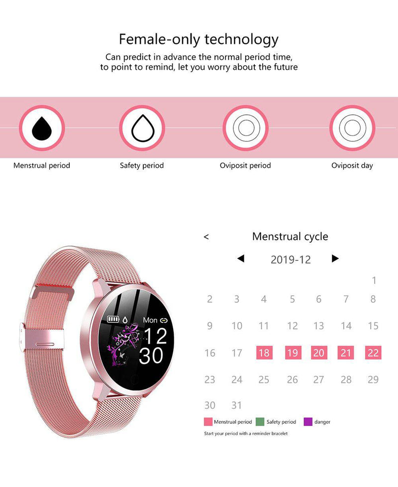 "Ladies Smart Watch ""Mory"" - Fitness Tracker in trendigen Designs - GYMAHOLICS"