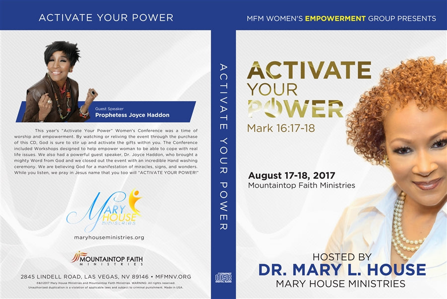 Activate Your Power 2017 Conference CD
