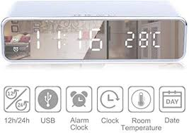 3 in 1 LED Electric Alarm Clock With Phone Charger Wireless