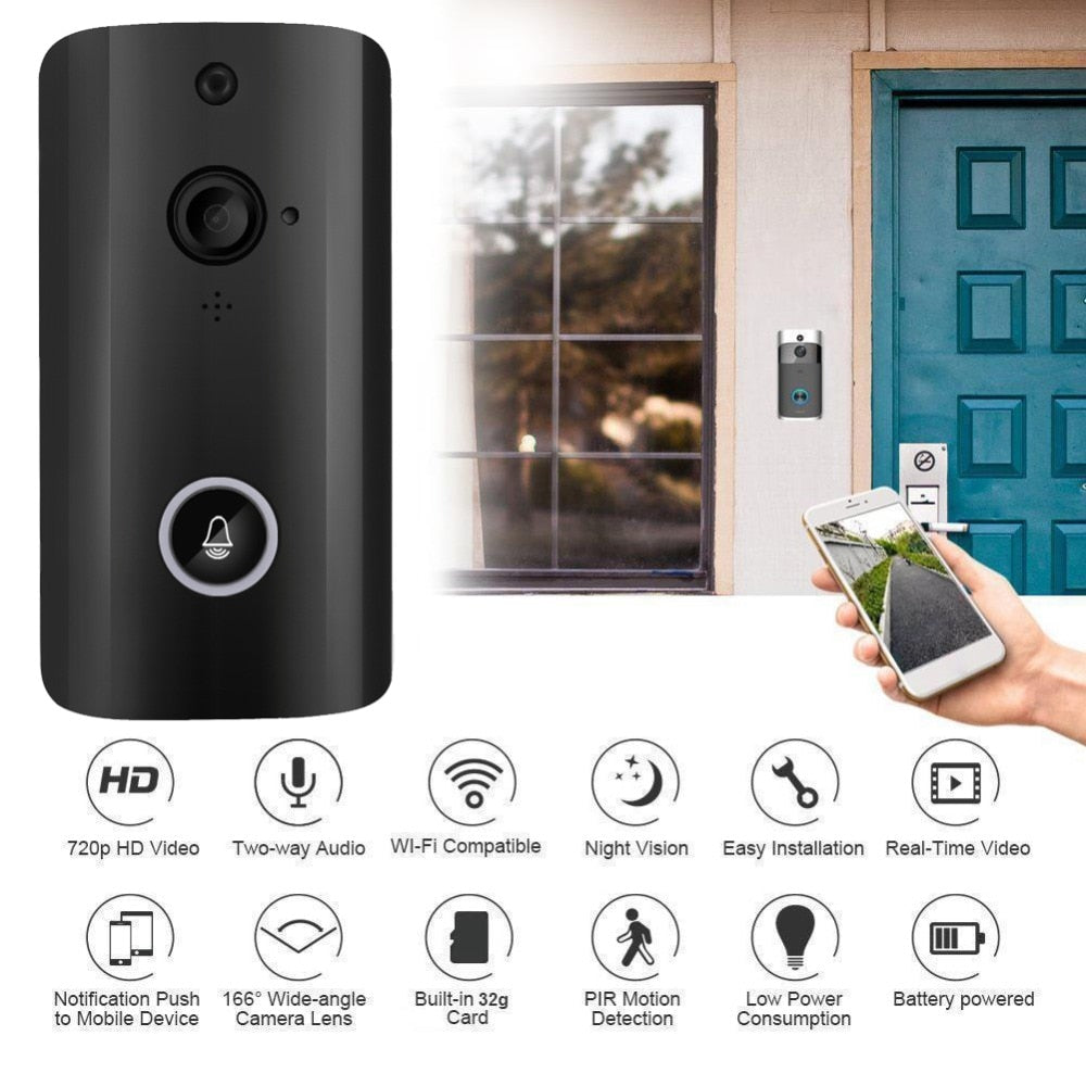 Smart Wireless Home Security Doorbell WiFi Remote