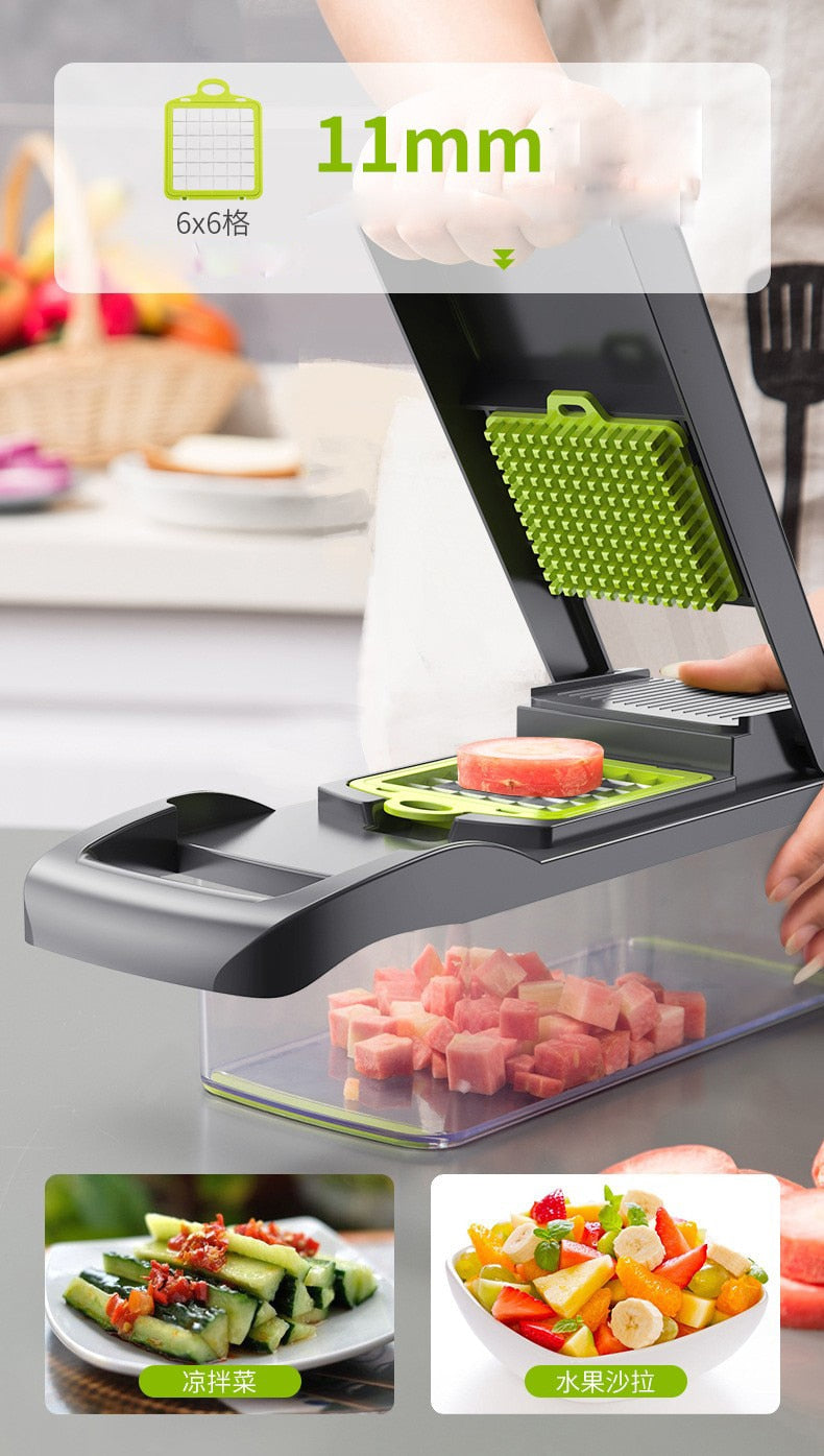 Multi-functional Grater Vegetable Cutter With A Base