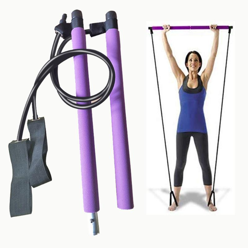 Portable Pilates Bar Stick with Resistance Band