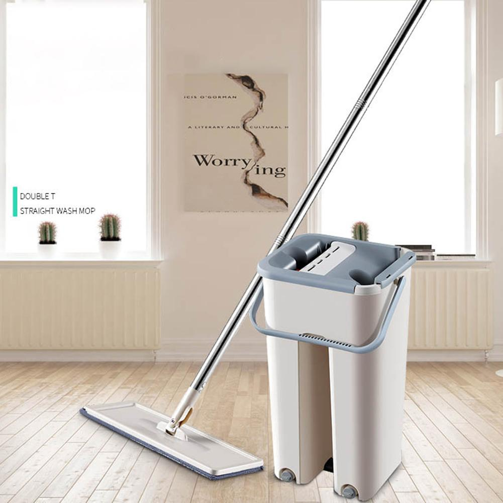 Magic Flat Squeeze Mop and Bucket Hand Free