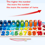 Educational Wooden Toys Children Busy Board Math Fishing