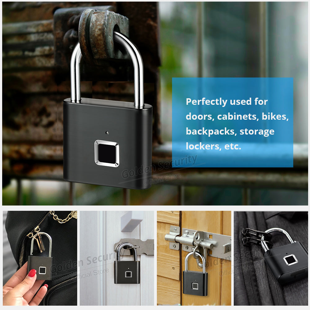 Fingerprint Keyless USB Rechargeable Lock