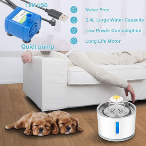 Automatic Pet Cat Water Fountain 2.4L