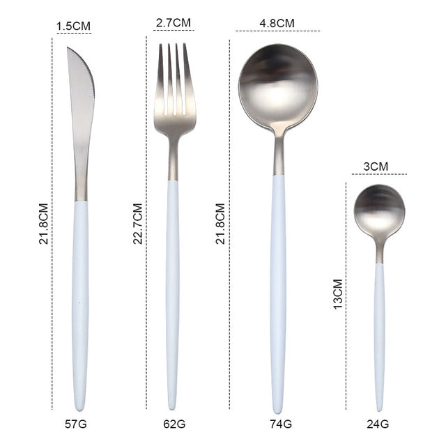 Gold Cutlery Set 304 Stainless Steel