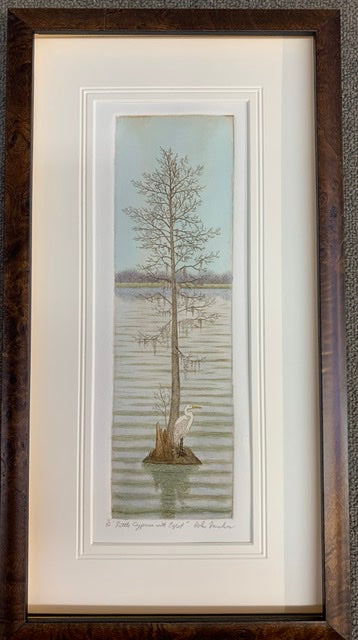 Little Cypress with Egret