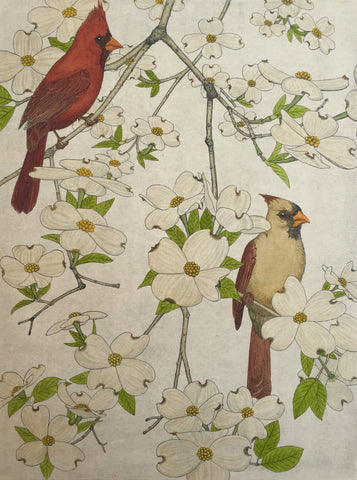 Cardinals and Dogwoods