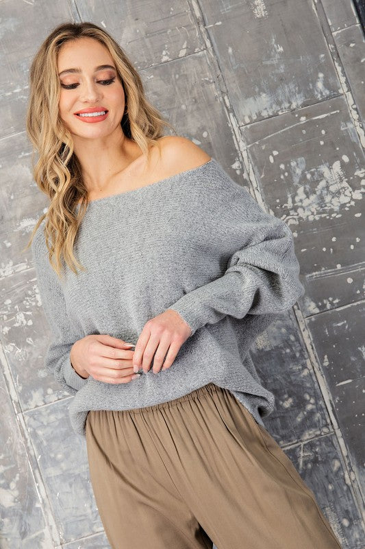 Laura Sweater - Heather Grey