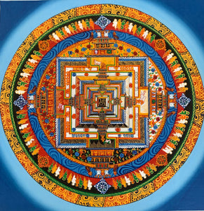 Kalachakra Mandala Blue Aura Background  2019C5