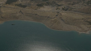 AD4K_001 Aerial 4K stock footage of Dead Sea Coast