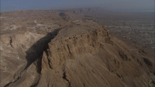 AD_020 Aerial helicopter footage of Massada: Massada and Judean Desert
