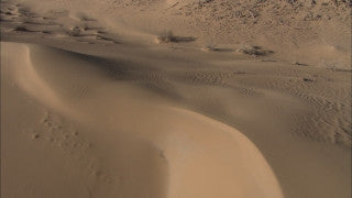 AE_015 Aerial helicopter footage of Southern Israel: Sand dunes in the Negev Desert