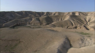 AE_019 Aerial helicopter footage of Southern Israel: mountains in the Negev Desert