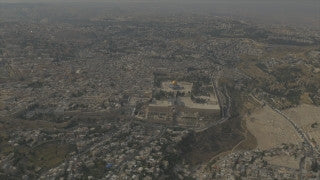 AJ4K_014 - Aerial 4K footage of Jerusalem: the old city, long shot from the south