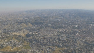 AJ4K_020 - Aerial 4K footage of Jerusalem: a high long shot from the north