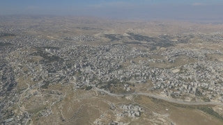 AJ4K_029 - Aerial 4K footage of Jerusalem: Aerial 4K footage of Jerusalem: filming the Palestinian cities of Bethlehem and Beit Sahour from Jerusalem