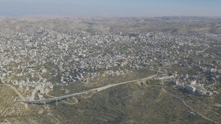 AJ4K_039 - Aerial 4K footage of Jerusalem: Route 60 from Jerusalem to Hebron and the Tunnel Road near Beit Jala