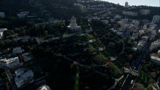 AN_040 Aerial helicopter footage of Haifa: City of Haifa