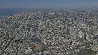 AT4K_009 Aerial 4K Tel Aviv: North Tel Aviv coast and skyline