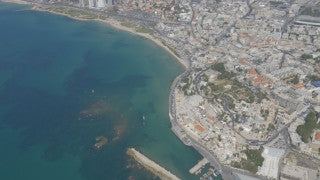 AT4K_019 Aerial 4K Tel Aviv: Old Jaffa and port