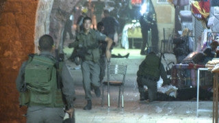 CJ_003 Jerusalem Conflict 2015: Protestors clash with police: Smoke and Screaming in the Shuk
