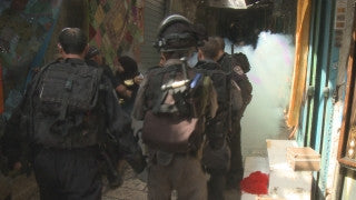 CJ_002 Jerusalem Conflict 2015: Soldiers Running, Stabbing Victim, Sirens in the Shuk