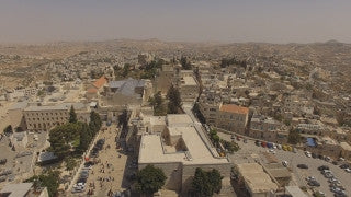 DB4K_013 - Beautiful 4K aerial footage of Bethlehem and the Church of Nativity