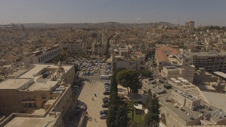 DDB4K_012 - Beautiful 4K aerial footage of Bethlehem and the Church of Nativity