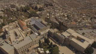 DB4K_020 - Beautiful 4K aerial footage of Bethlehem and the Church of Nativity
