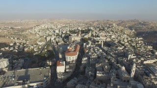 DB4K_001 - Beautiful 4K aerial footage of Bethlehem and the Church of Nativity