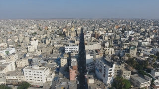 DG4K 020 - Gaza 4K Drone Footage 20 - Aerial 4K video of Gaza City and Beach
