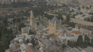 DJ4K_010_G 4K Drone Jerusalem: Sisters of Zion Monastery from Above