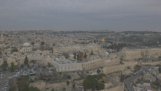 DJ4K_011_G 4K Drone Jerusalem: Fly above Old City of Jerusalem