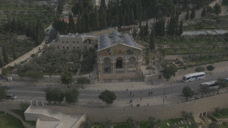 DJ4K_019_G 4K Drone Jerusalem: Church of All Nations from above