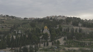 DJ4K_020_G 4K Drone Jerusalem: Church of Mary Magdalene and Mount of Olives