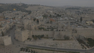 DJ4K_024_G 4K Drone Jerusalem: Old City of Jerusalem from above