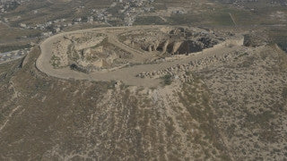 DJ4K_032_G 4K Drone Jerusalem: Fly up over Herodium