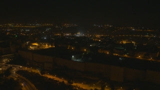 DJ4K_038_B 4K Drone Jerusalem: Fly by Old City of Jerusalem at night