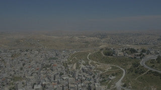 DJ4K_045_B 4K Drone Jerusalem: Fly by Jerusalem surroundings
