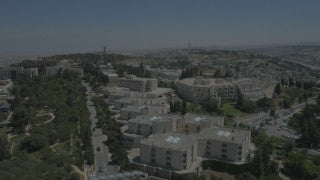 DJ4K_046_B Israel 4K stock footage of Jerusalem: Drone aerial Hebrew University