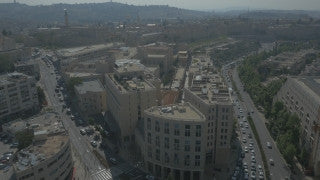 DJ4K_047_B Israel 4K stock footage: Drone Jerusalem: city center