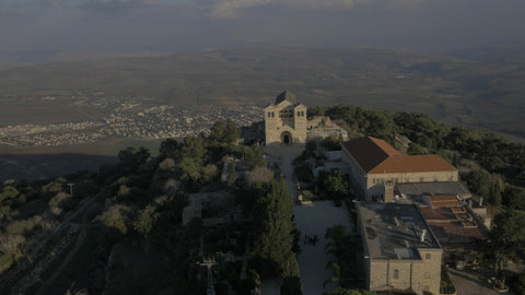 4K drone aerial footage of North Israel – stock footage of