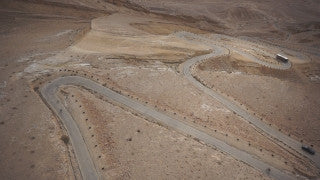 DS050B Aerial drone footage of South Israel and the Negev: road to Maale Akrabim in eastern Negev Desert