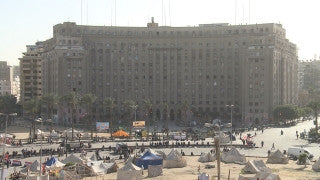 Egypt 008 Egypt Stock Footage: Al Tahrir square in Cairo