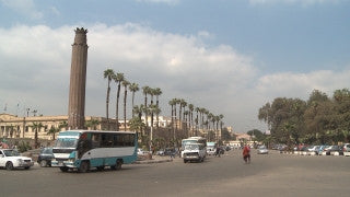 Egypt 020 Egypt Stock Footage: Cairo University