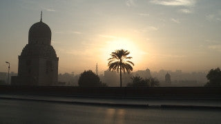 Egypt 022 Egypt Stock Footage: Cairo skyline at sunset