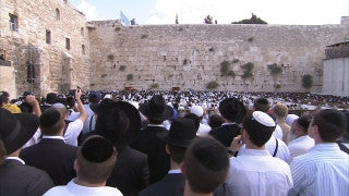 JJ_031 - Jewish sites in Jerusalem: Jews praying in synagogue next to the Western Wall
